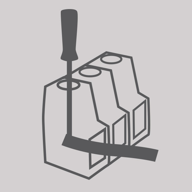 Screw terminals for input and output