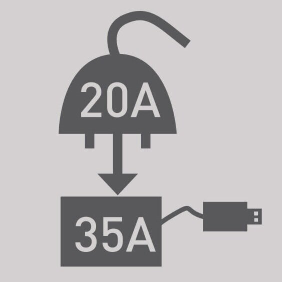 20A Charger, 35A Power Supply