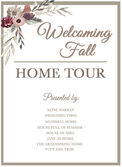 House Full of Summer: Fall Home Tour Blog Hop - Cozy, Coastal, Chic home decor ideas, fall styling