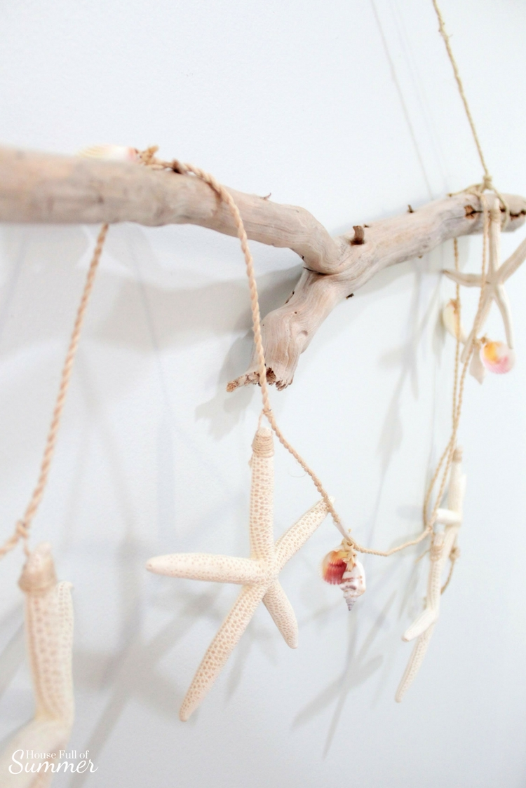 Easy Diy Beachy Boho Driftwood Wall Hanging House Full Of Summer Coastal Home Lifestyle