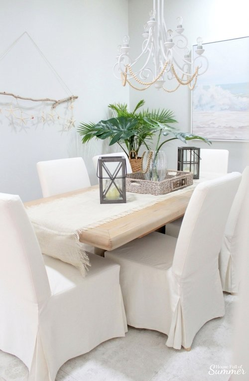 Why I Love My White Slipcovered Dining, Ikea Dining Room Chairs