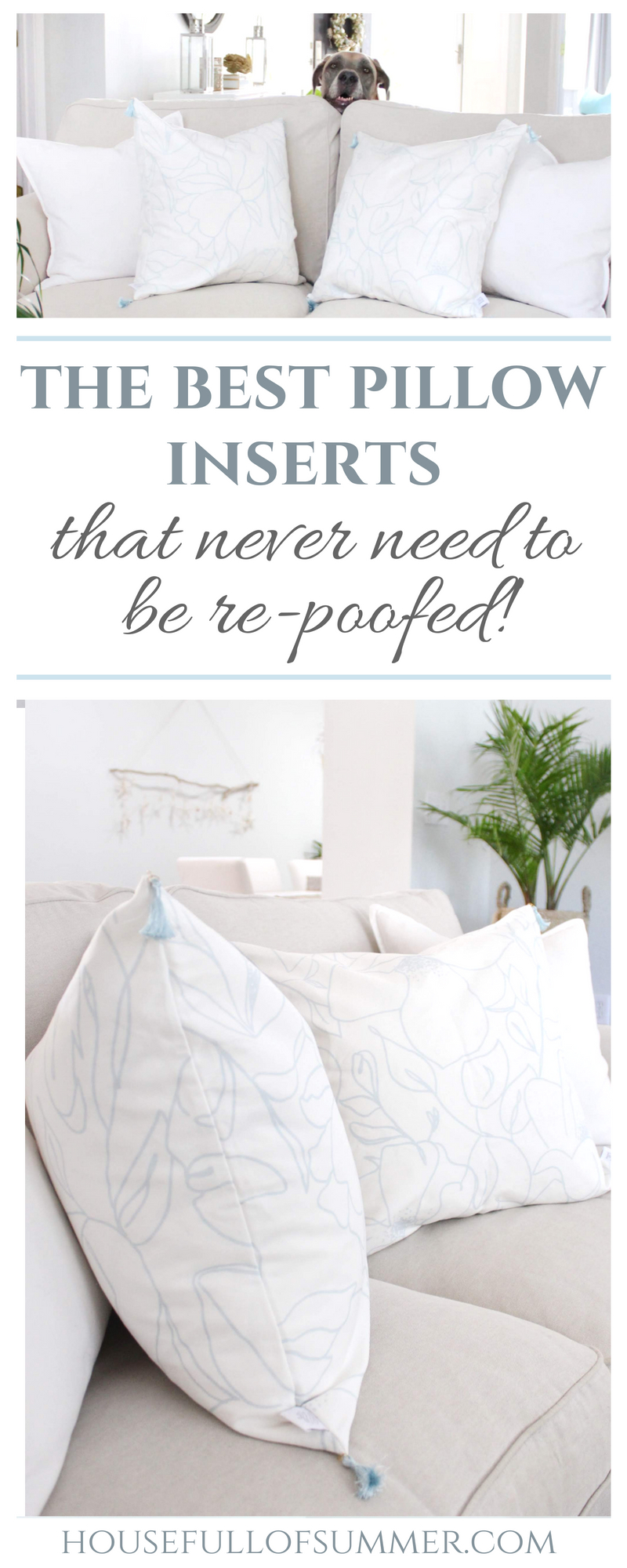 The Best Throw Pillow Inserts That Never Need To Be Re Poofed House Full Of Summer Coastal Home Lifestyle