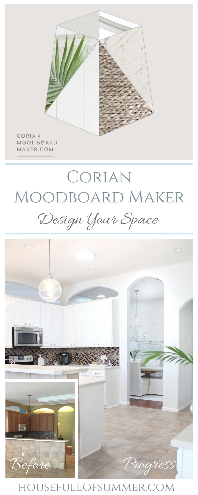 Bring Your Vision to Life With This Unique Mood Board Maker | House Full of Summer #ad before and after, moodboard ideas, room design, interior decorating, home decor, interior design