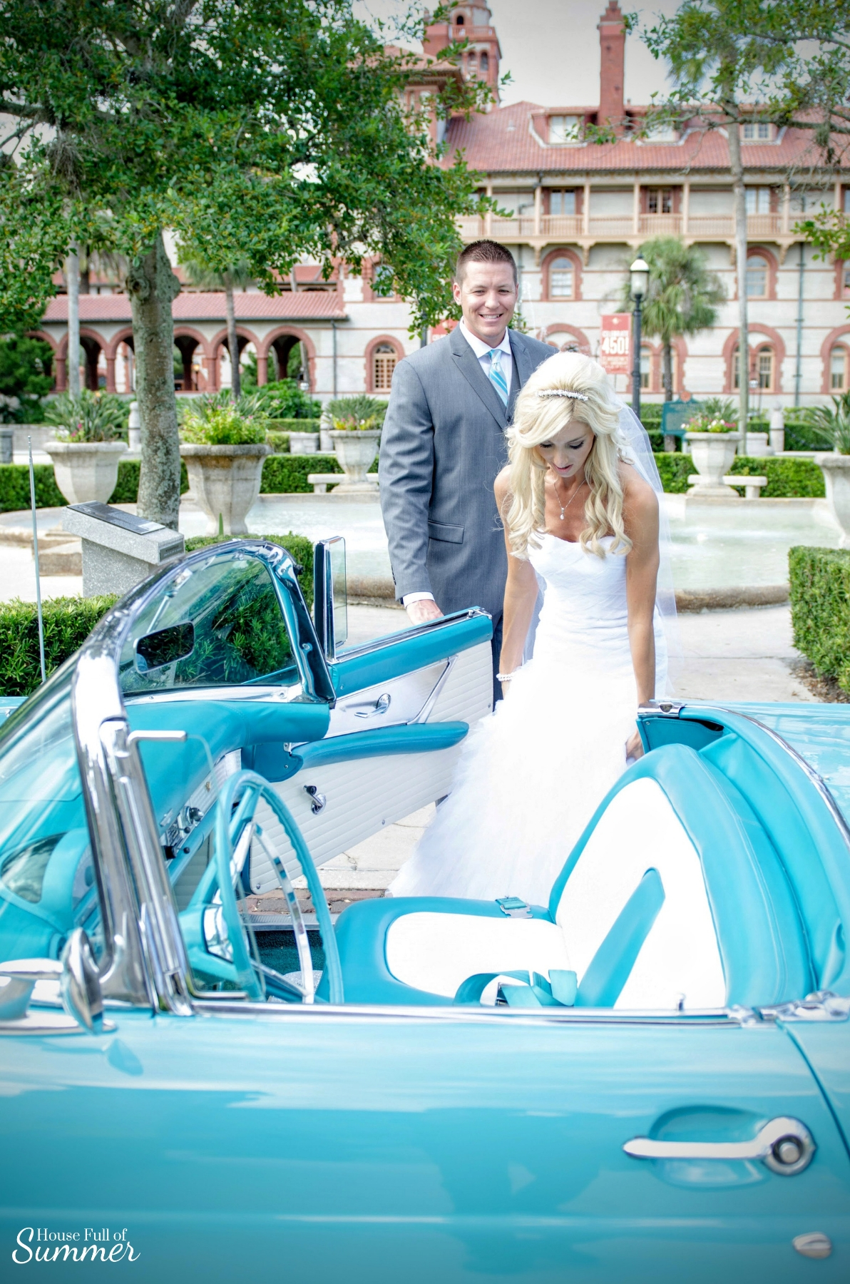 Why I Chose to Have a First Look on Our Wedding Day | House Full of Summer - wedding day ideas, first look photography ideas, first look with the groom, Florida wedding, St. Augustine, Lightner Museum, wedding dress, botanical garden, Southern charm wedding,