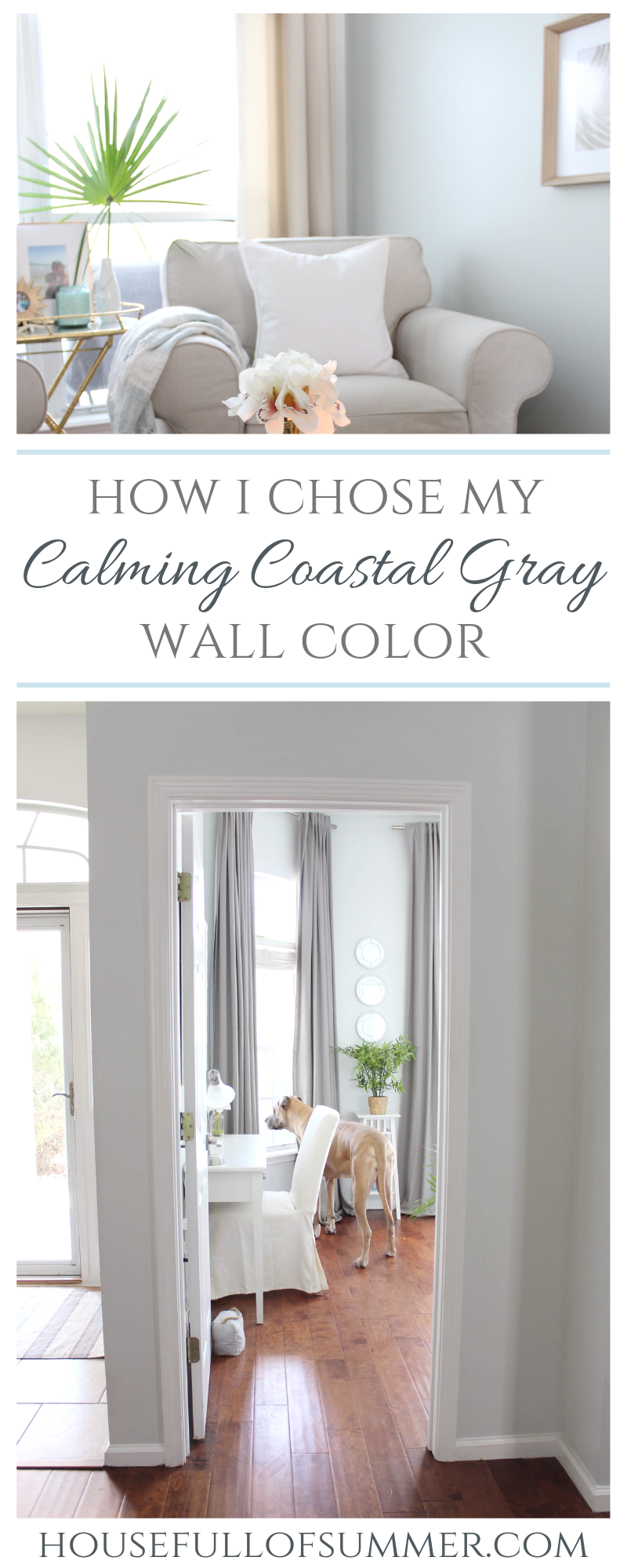 Calming Coastal Gray Wall Color