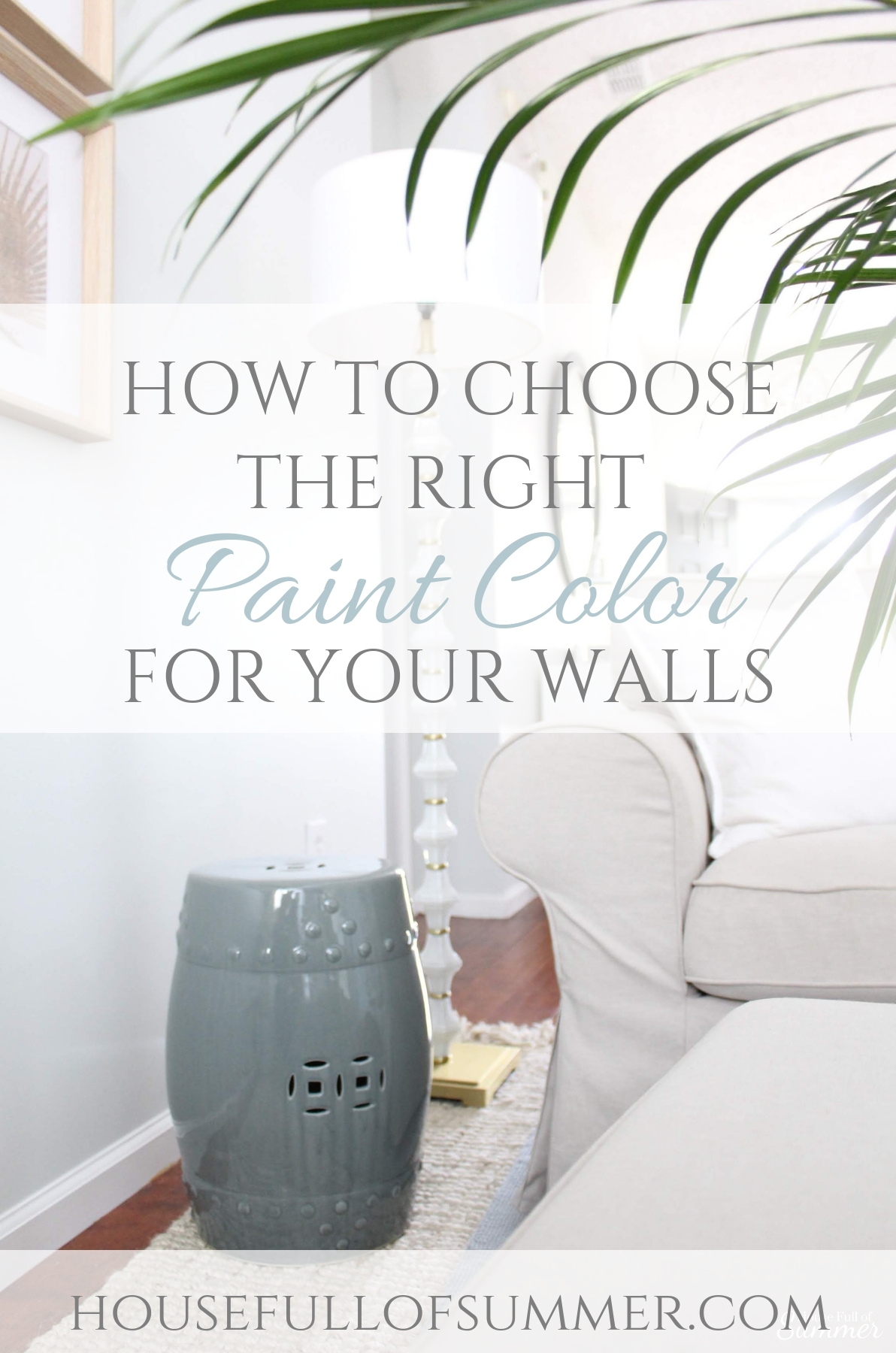 How I Chose My Calming Coastal Gray Wall Color | Tips for Choosing Interior Paint Colors #housefullofsummer #coastaldecor  @housefullofsummer #paintcolor #graypaint #greypaint #coastalpaintcolors #coastalhome #beachhouse