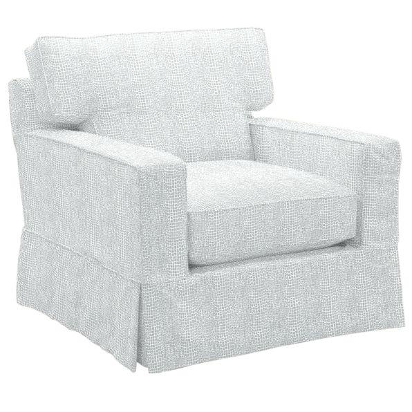 Graham Slipcovered Club Chair  in Kylie Gunmetal