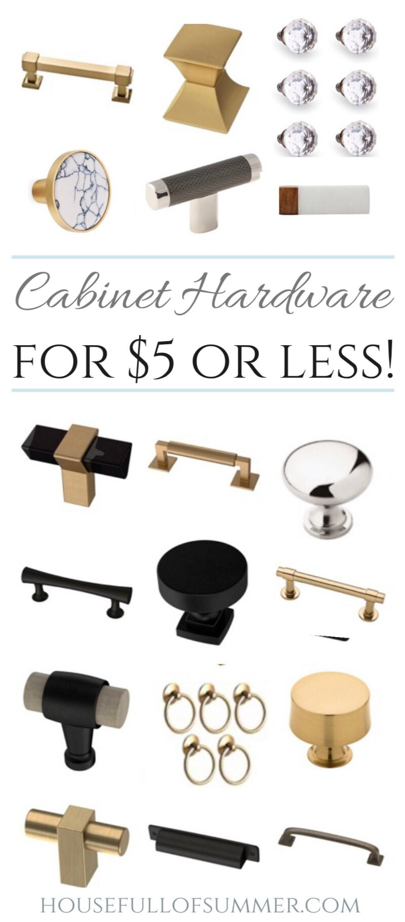 On Trend Cabinet Hardware For 5 Or Less House Full Of Summer Coastal Home Lifestyle