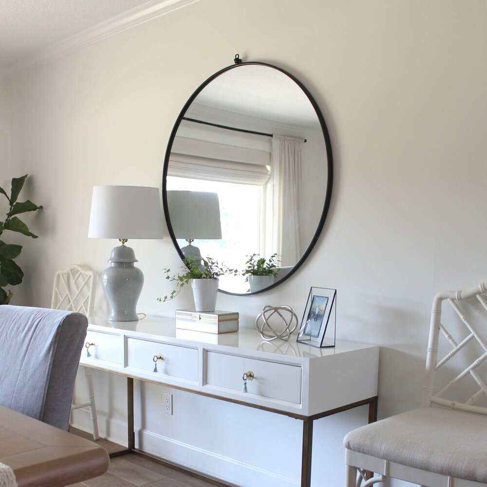 Hanging My Heavy Dining Room Mirror House Full Of Summer Coastal Home Lifestyle
