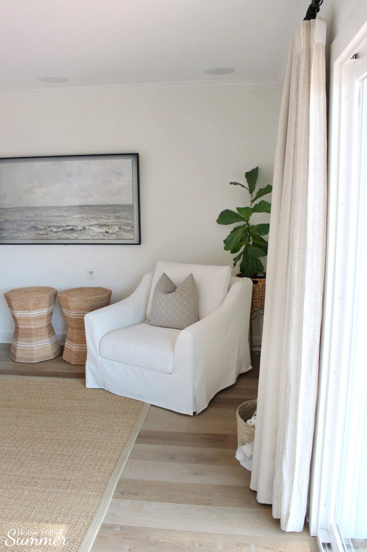 Get A High End Look For Ikea Furniture With Comfort Works Slipcovers Details On Our Pull Out Sofa House Full Of Summer Coastal Home Lifestyle