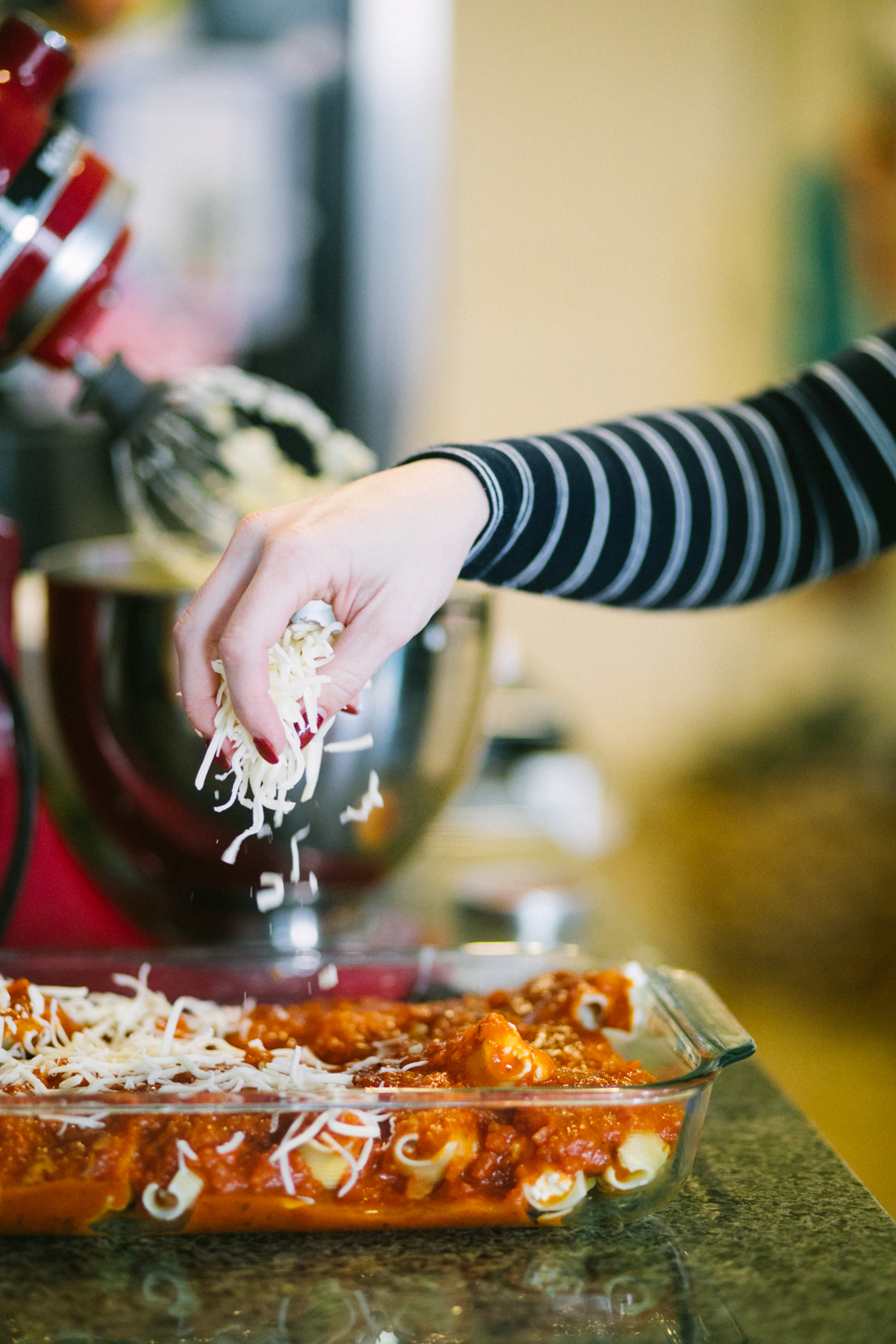 Best stuffed shells recipe featured by top US lifestyle blog, Life of a Sister