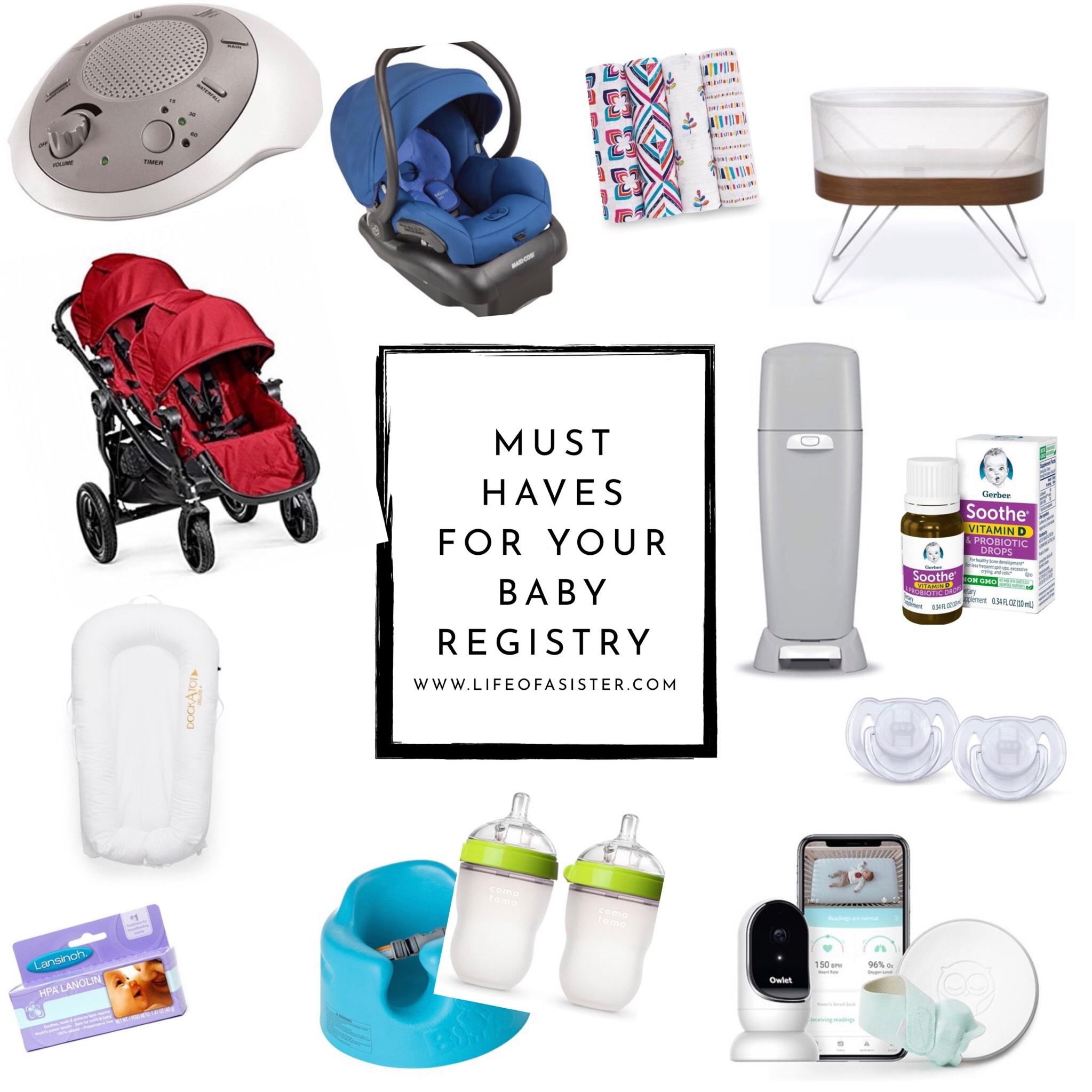 Baby Registry Essentials at Walmart featured by top US life and style blog, Life of a Sister