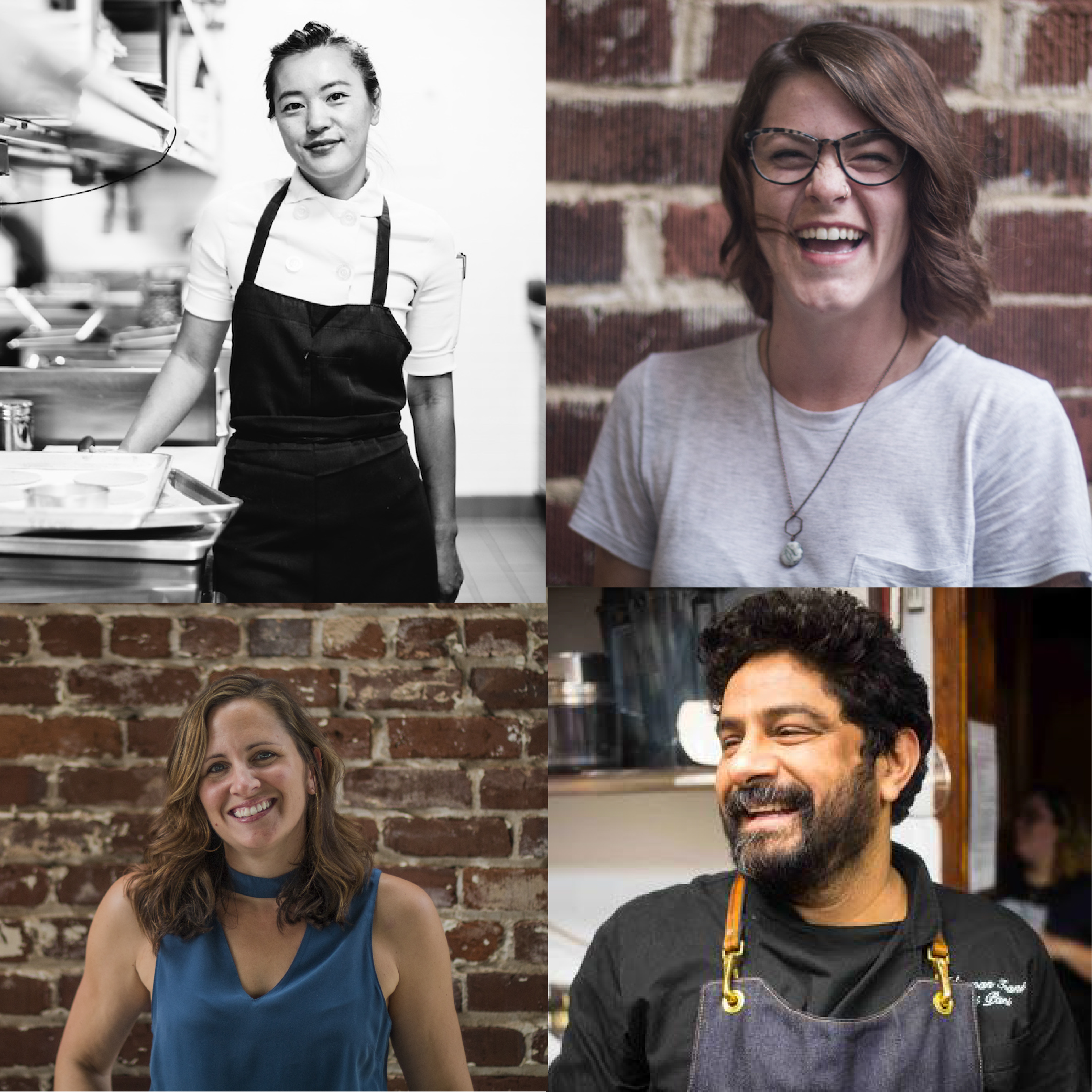 From left to right, top to bottom: Chef Jen Yee, Melissa Davis, Elizabeth Feichter, Meherwan Irani (Images of Meherwan and Jen Yee from the ATL Food & Wine Website)