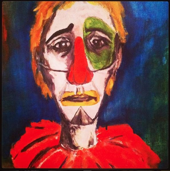 """""""Clown"""" 2015 Acrylic on Canvas"""
