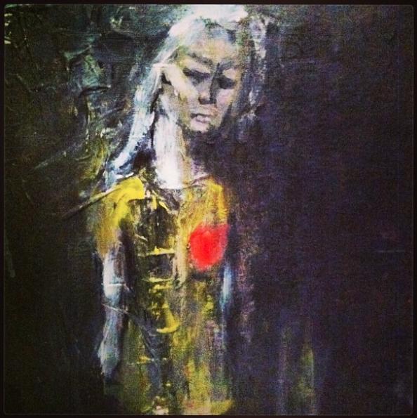 """""""Oh my bleeding Heart"""" 2014 Mixed Media"""