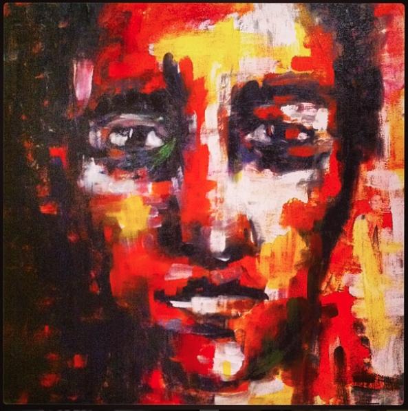 """She Me"" 2015 Acrylic on Canvas."