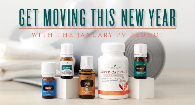 Accomplish your 2018 resolution with the help of Young Living's Essential Rewards January Promotion
