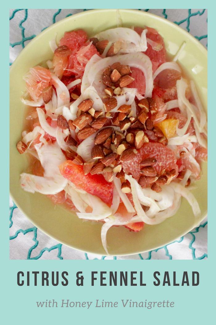 Citrus and Fennel Salad with Honey Lime Vinaigrette