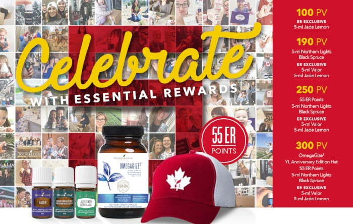 Canada's March Essential Rewards Promotion: Young Living Celebrates 5 Years