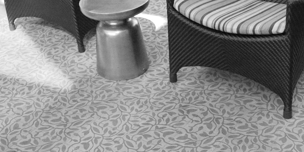 Fine Vine cement tile by Tesselle, designed by Karin Jeske