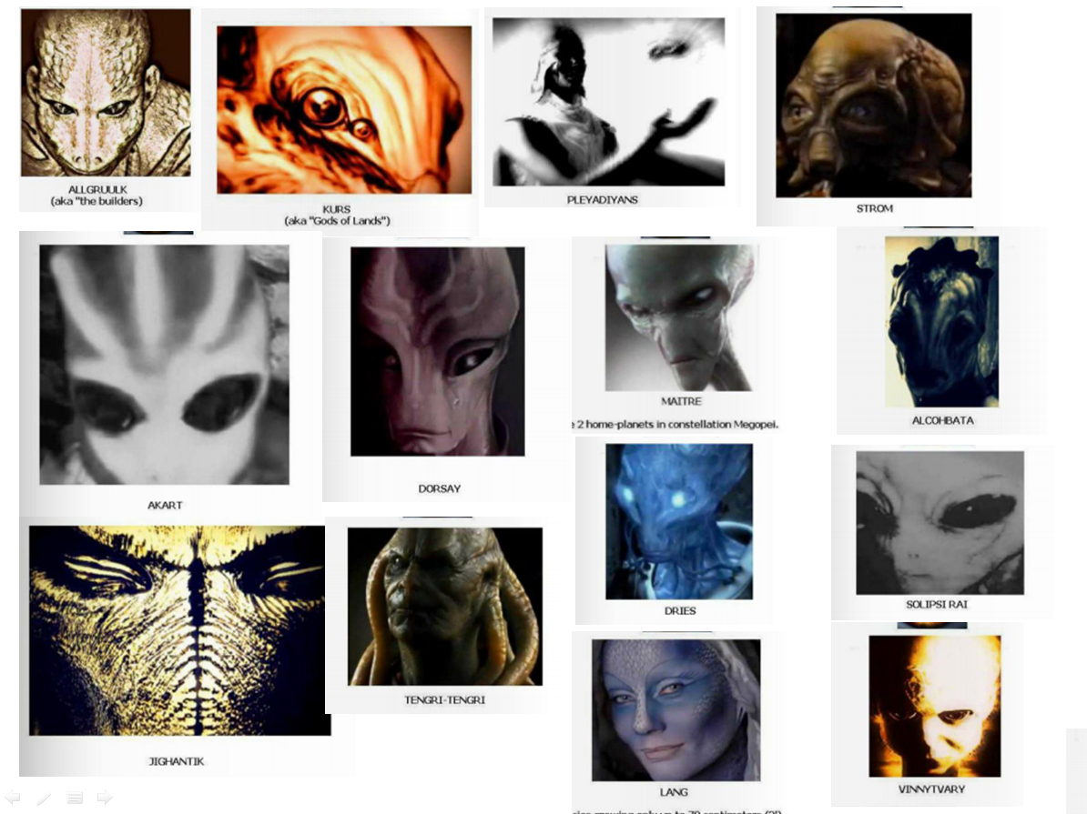"""Just a few samples of the many ET races that exist """"out there""""...."""