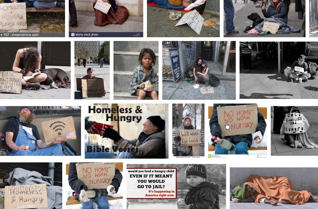 ANYONE TRYING TO ACTUALLY MAKE MONEY BY TAKING PICTURES OF THE HOMELESS AND NOT DOING SOMETHING ABOUT THIS HORRID HUMAN CONDITION IS CLUELESS.