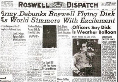 """FAKE NEWS - The Deep State Emerged At The Crash Site Before Eisenhowers men, to the """"victors went the spoils""""- Area 51 is Born."""