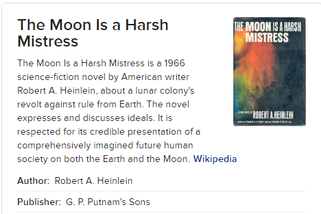 A Prison On The Moon for Earths Criminals - This writer was always known for his over the top intellect and almost other-worldly understanding of the human design and it's eternal desire to overcome adversity, oppression and enslavement at any cost.