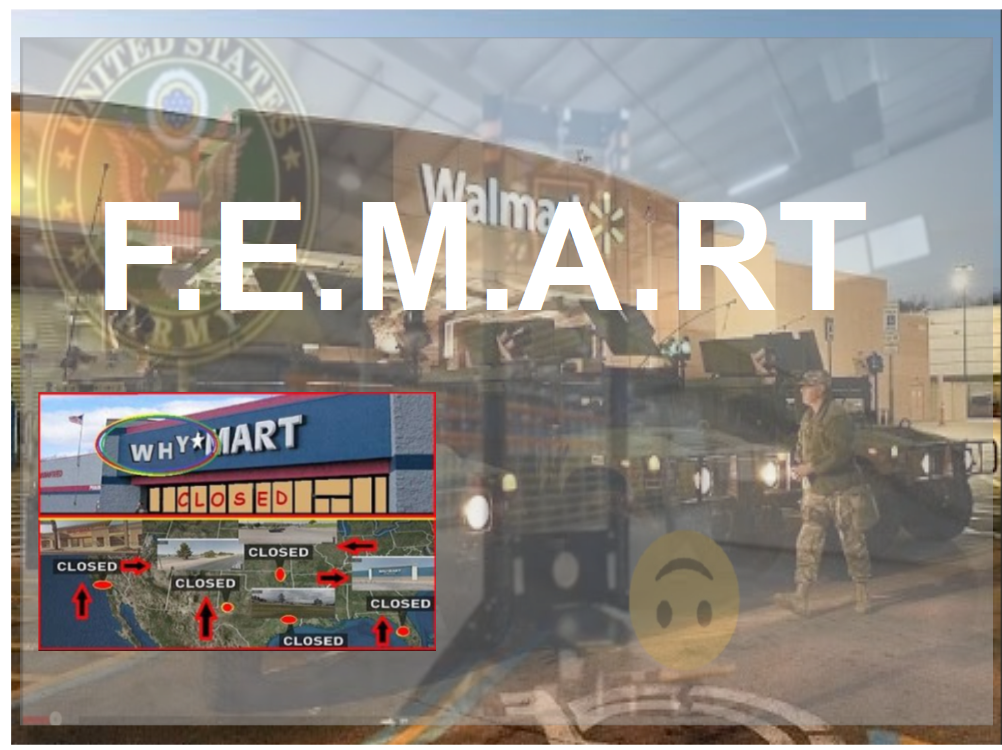 Large Empty Department Stores, Walmarts, Being Converted Into F.E.M.A. Camps Now? - ..but who are they for?…Illegal Immigrants or us.
