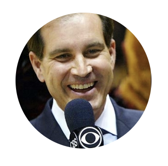 Jim Nantz of   CBS is answering questions.