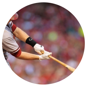 Paul Goldschmidt   Arizona Diamondbacks, All-Star is hitting a ball.