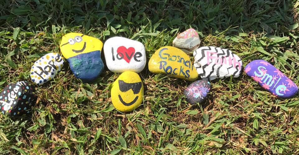 Gosnell Rocks - We moved by the therapy of painting, hiding, and finding rocks. The joys of seeing a smile when someone has found a rock is fulfilling. Invite whomever you choose and post all of your ideas, finds, and rocks to the Gosnell Rocks' Facebook page.A big thanks to Madison Walker for taking the initiative to brighten the lives of people in the Gosnell Community.