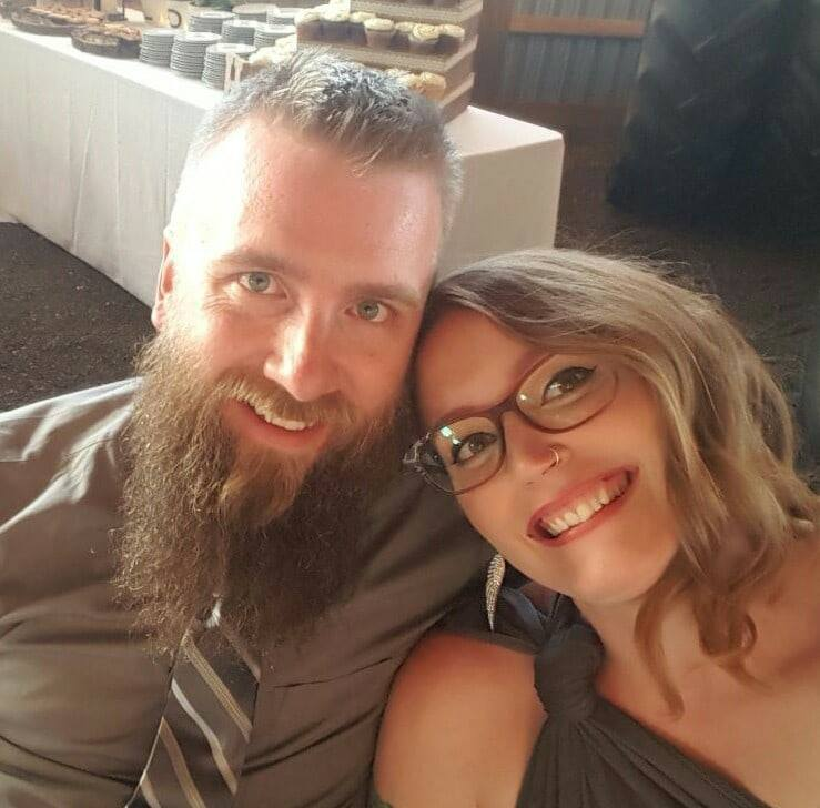 A photo of my husband and I, enjoying life together