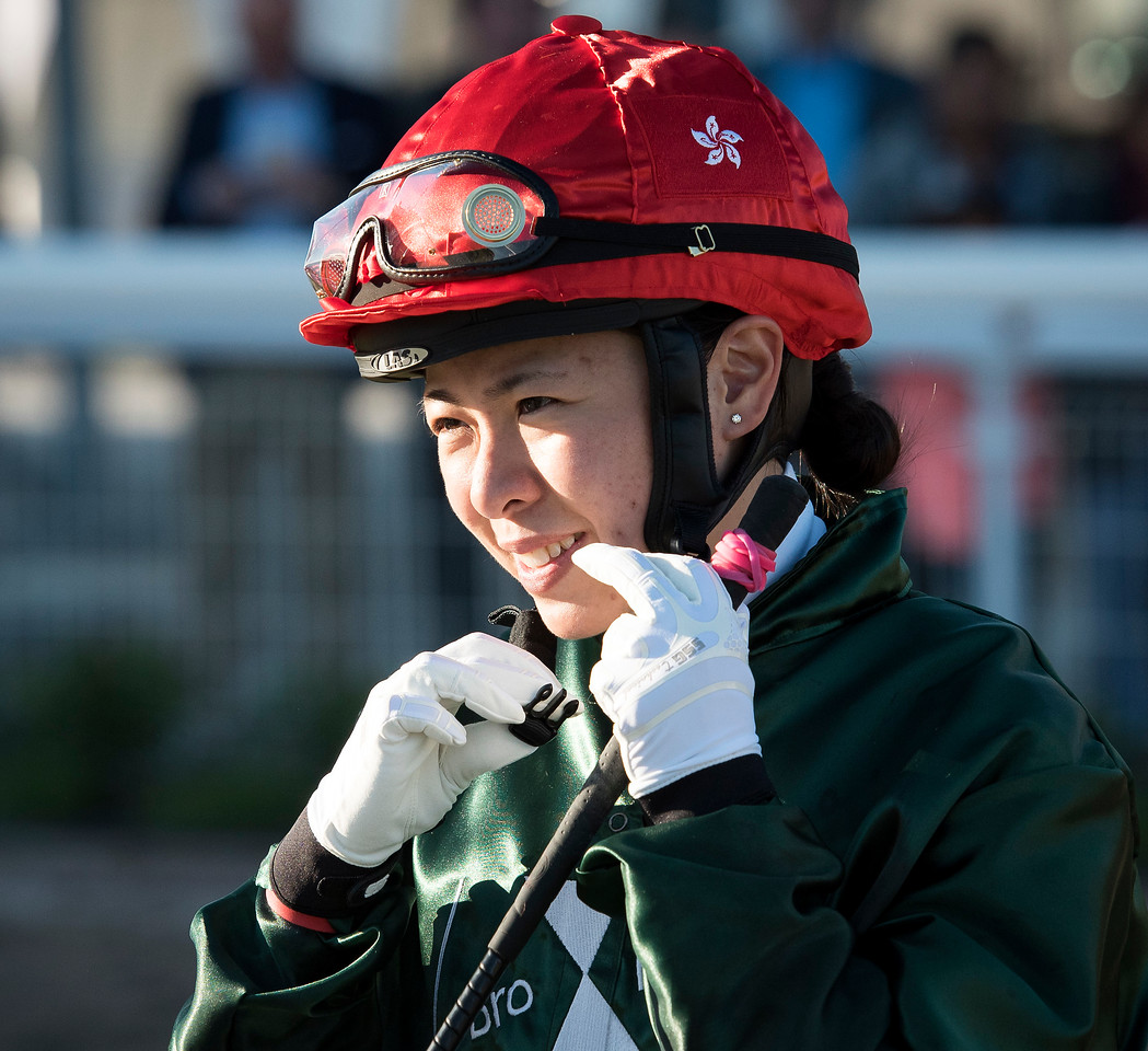 Kei Chiong represented Hong Kong in the Lady Jockeys' Thoroughbred World Championship.