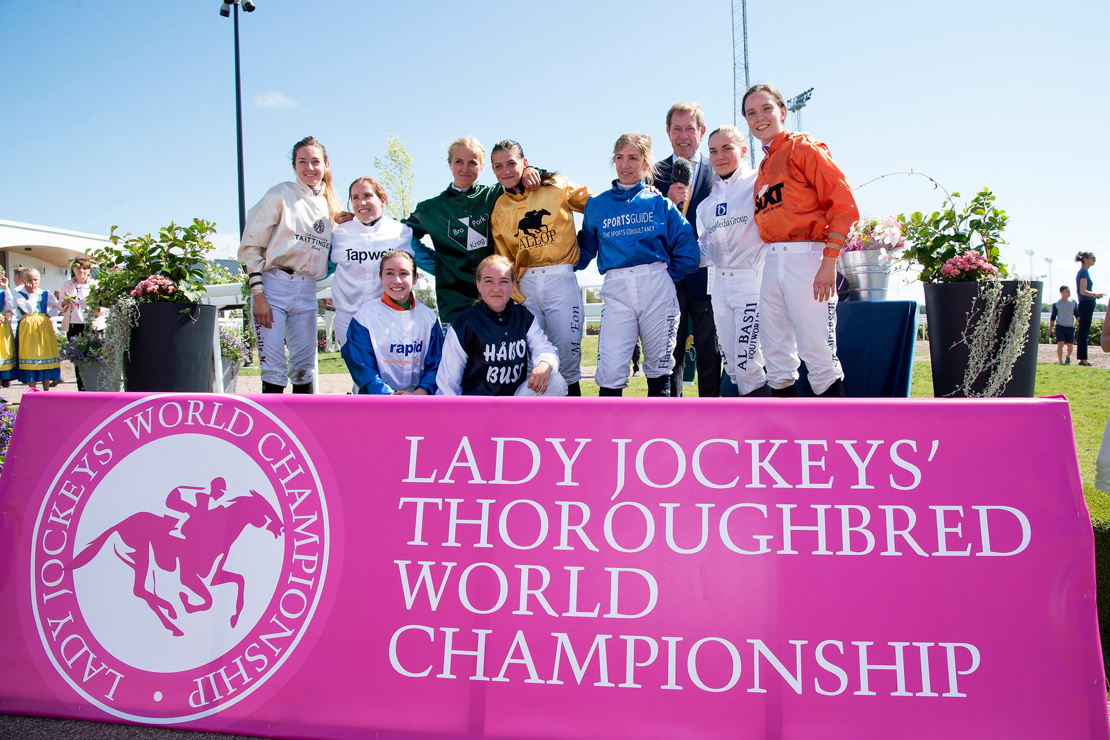 The participating jockeys in the 2018 LJTWC