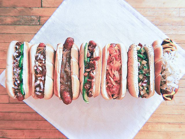 hot dogs, chili dogs, veggie dogs... all the dogs!