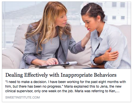 SWEET Institute- Dealing Effectively with Inappropriate Behaviors: Five Steps