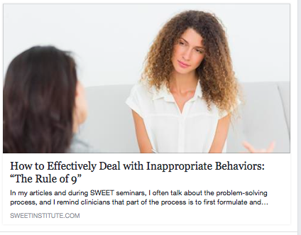 SWEET InstituTe- How to Effectively Deal with Inappropriate Behaviors: The Rule of 9