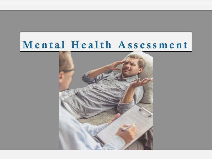 SWEET Institute Mental Health Assessment