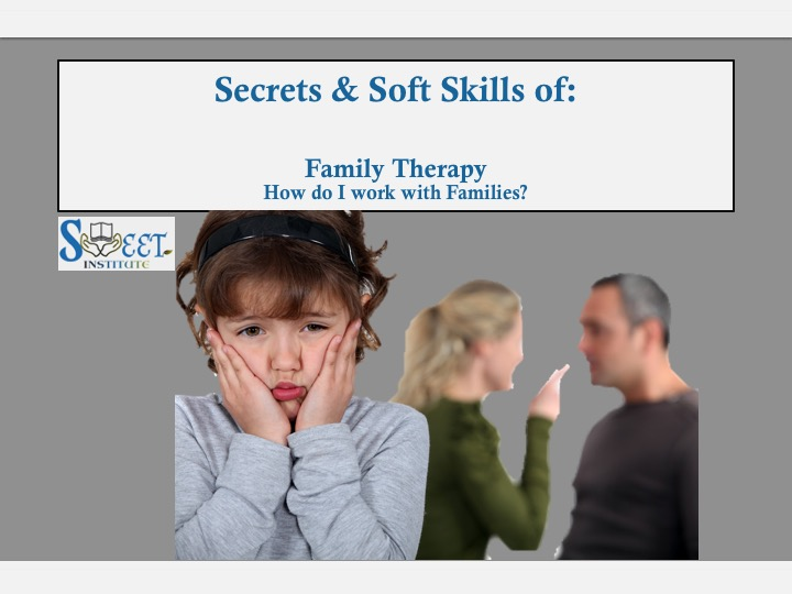 SWEET Institute Secrets & Soft skills: Family Therapy How do I work with Families?