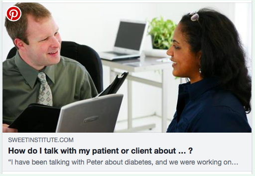 How do I talk with my patient or client about … ?
