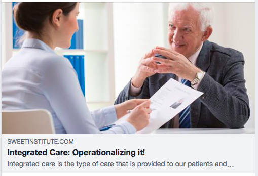 Integrated Care: Operationalizing it!