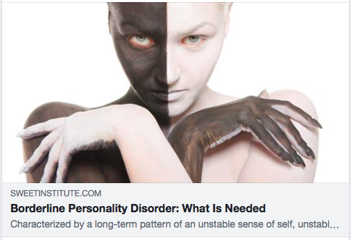 Borderline Personality Disorder: What Is Needed
