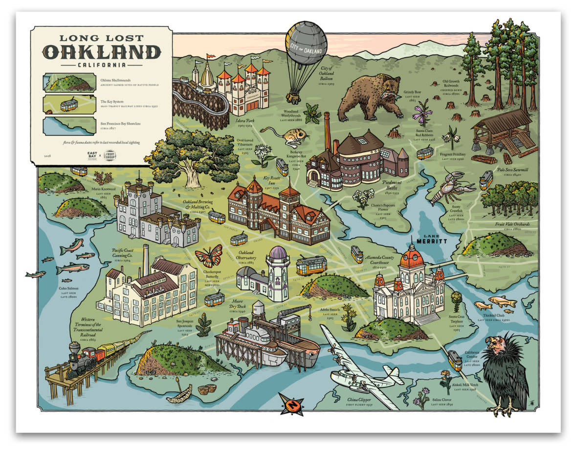 A Time-Traveling Map for a Rapidly Changing Oakland -