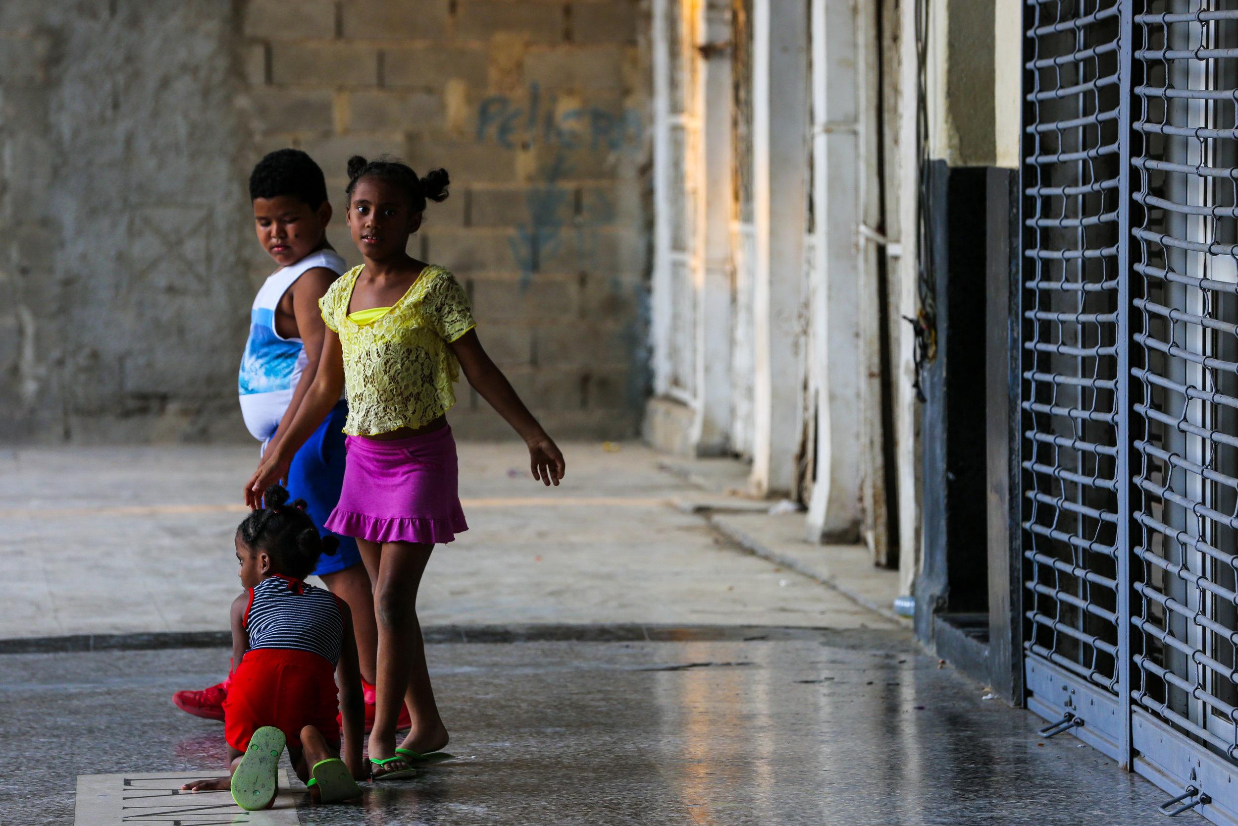Kids  play in an arcade. March 4, 2019, in Old Havana, Cuba.