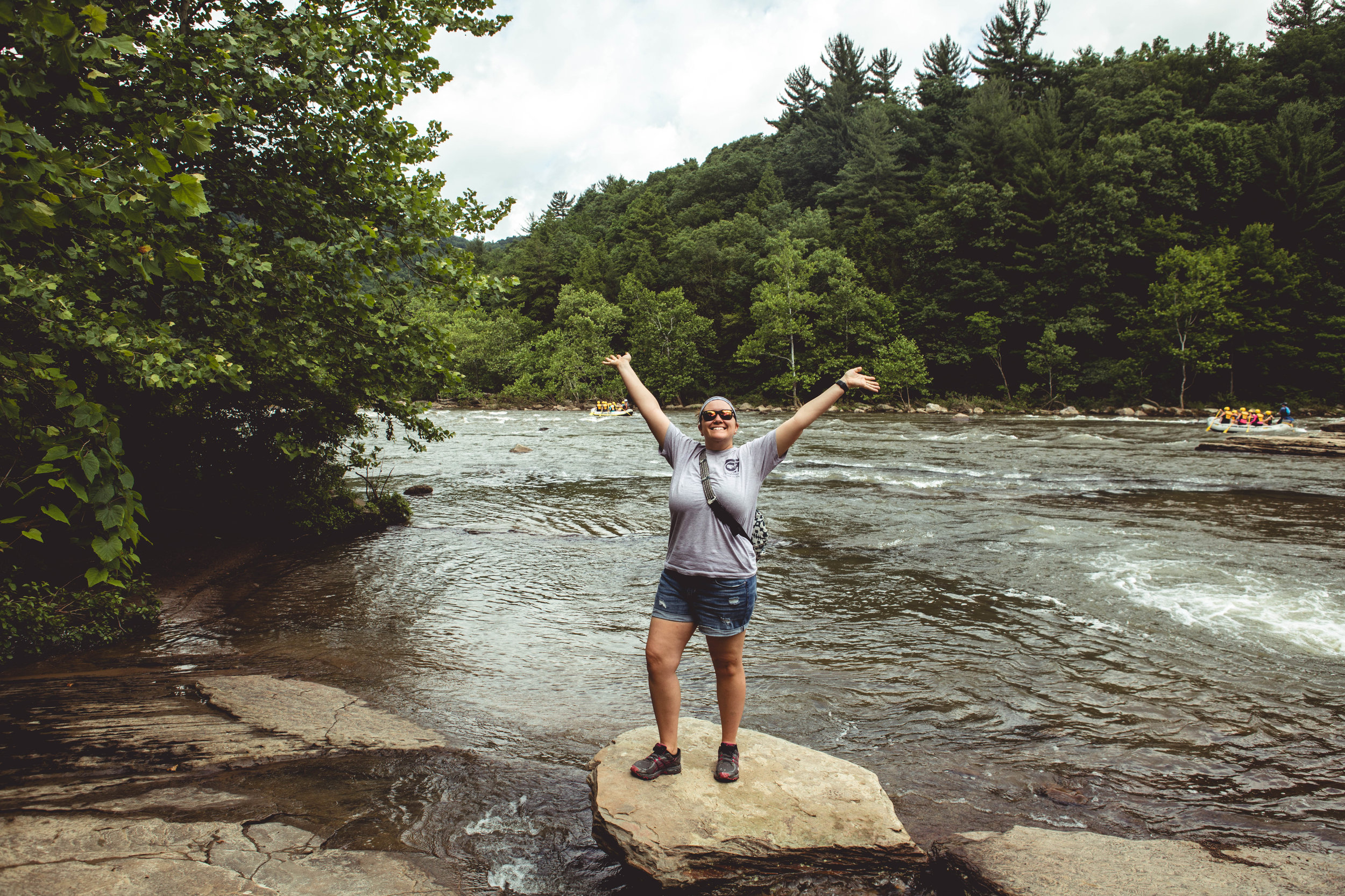 My girlfriend, Katie, on the Youghiogheny.