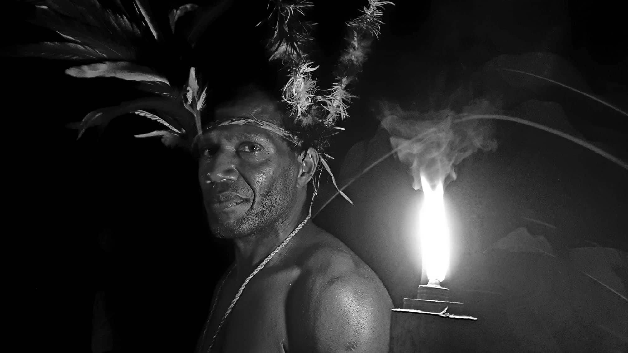 A Chief from Malekula who performs black magic in the Tam Tam Garden Tour.  Photo credit: Kali Chamberlin
