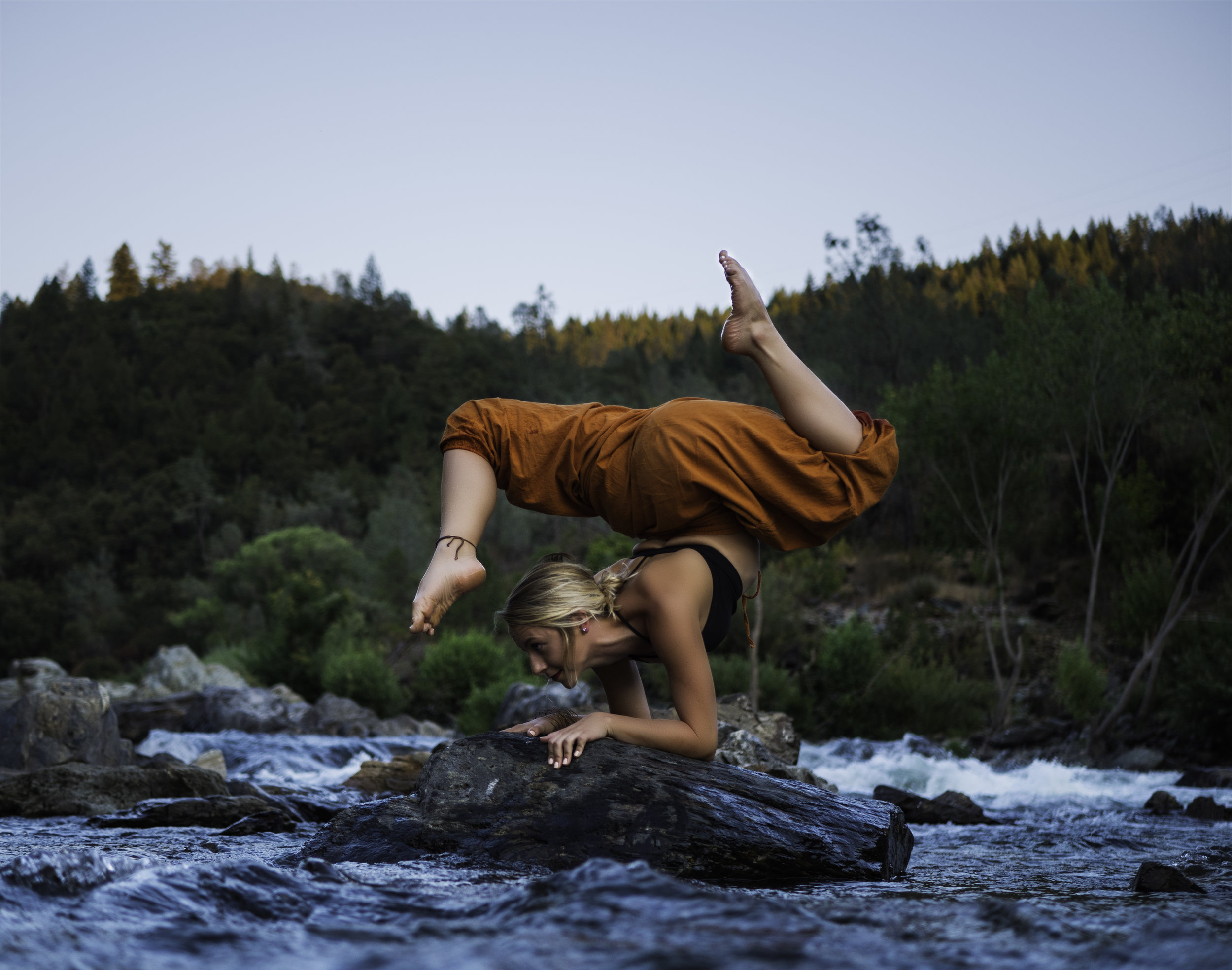 Yoga Photography by the river