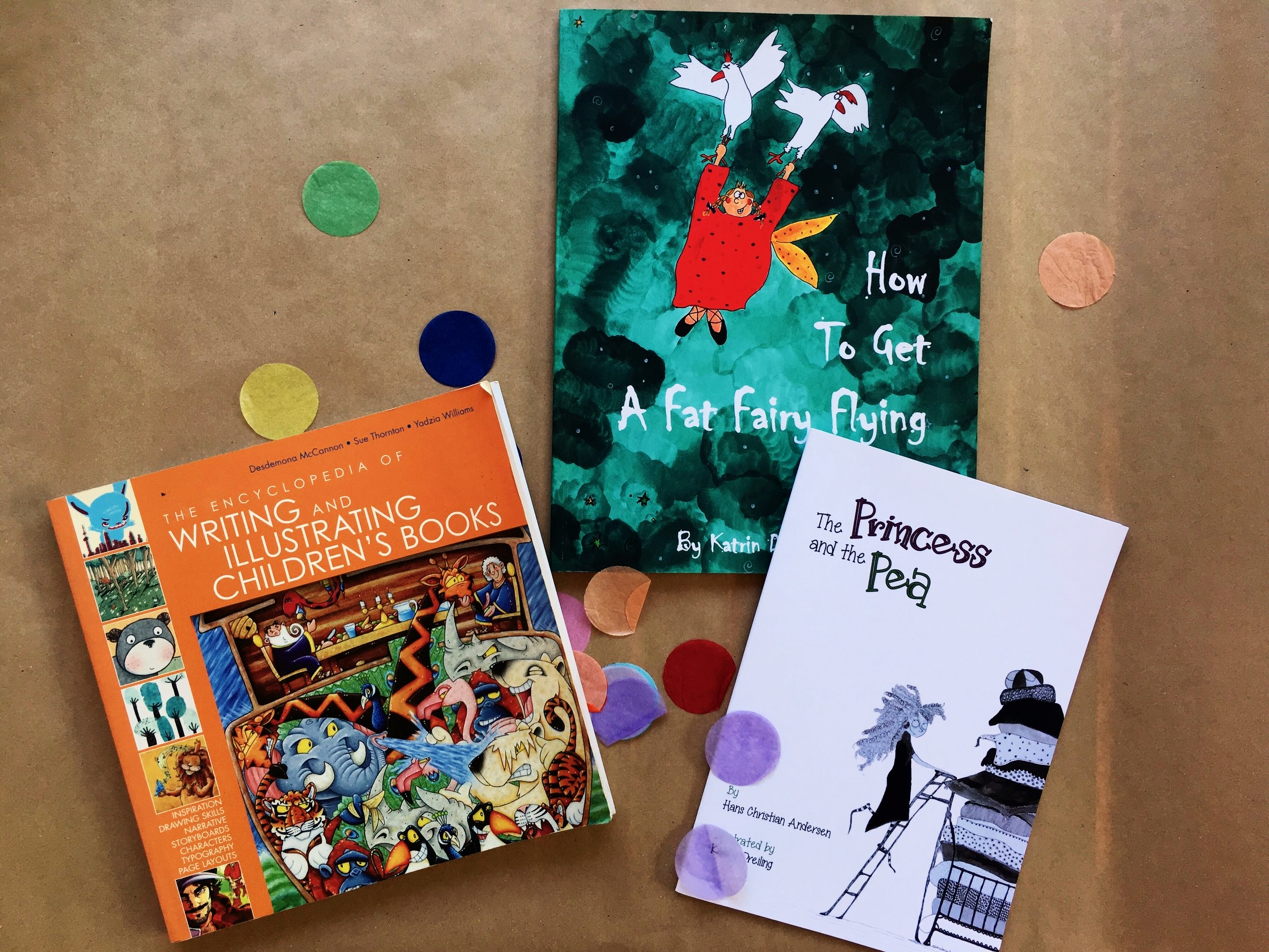 - The Encyclopedia of Writing and Illustrating Children's Books, How to get a Fat Fairy Flying and The Princess and the Pea
