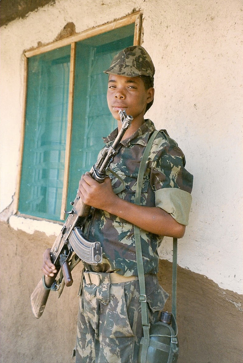 Barbush child soldier Mozambique